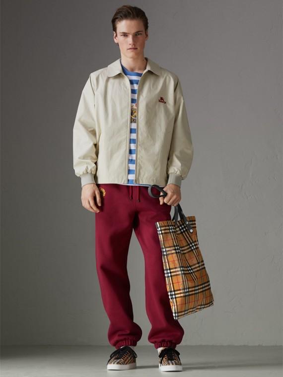Bolsa grande tipo sacola revestida com estampa Vintage Check (Preto) | Burberry - cell image 3