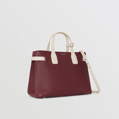 Burberry - Sac The Banner moyen en cuir bicolore - 1
