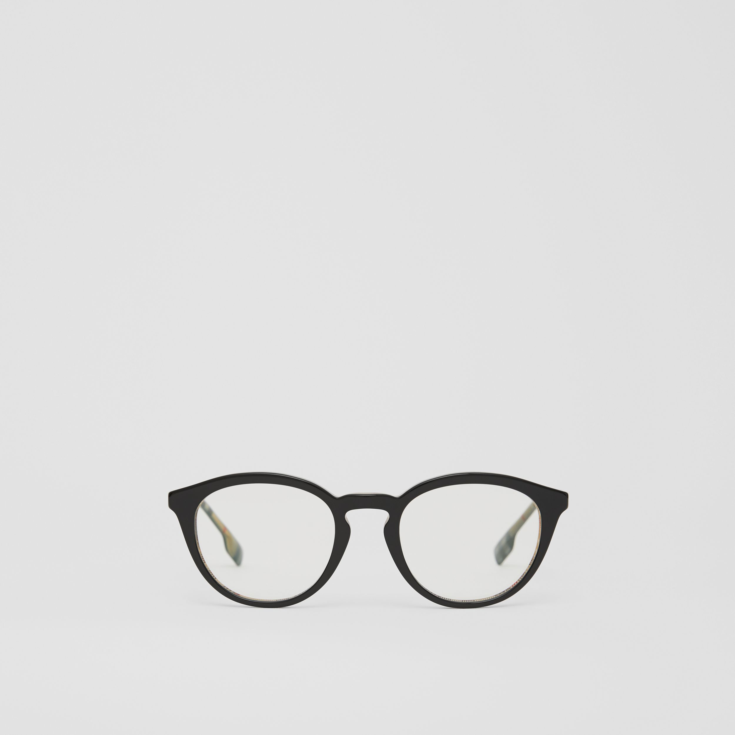 Round Optical Frames in Black/beige - Men | Burberry - 1