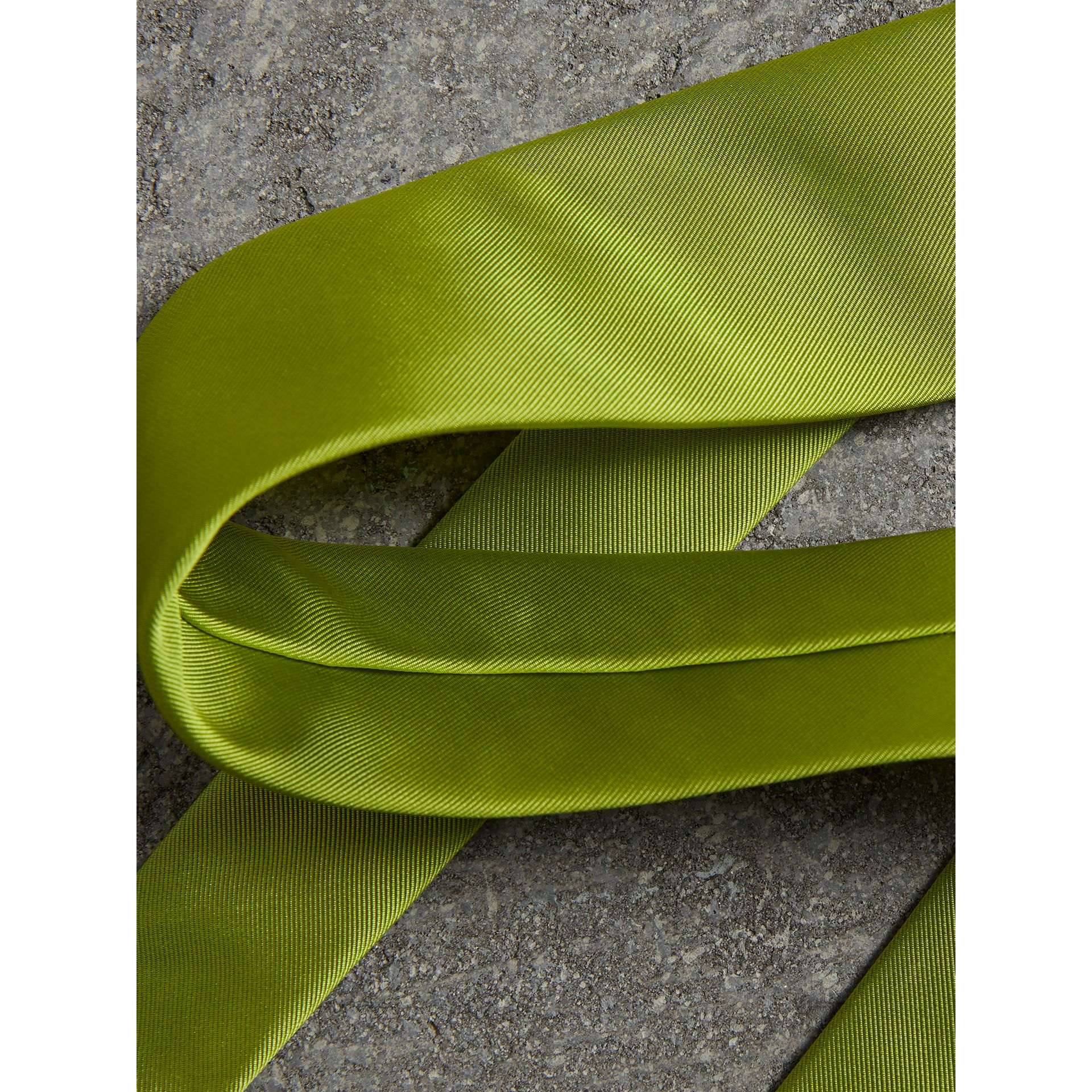 Modern Cut Silk Tie in Bright Lime - Men | Burberry - gallery image 1