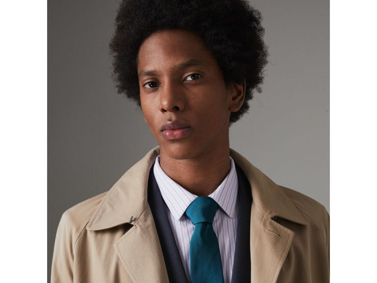Modern Cut Silk Tie in Mineral Blue - Men | Burberry United Kingdom - cell image 2