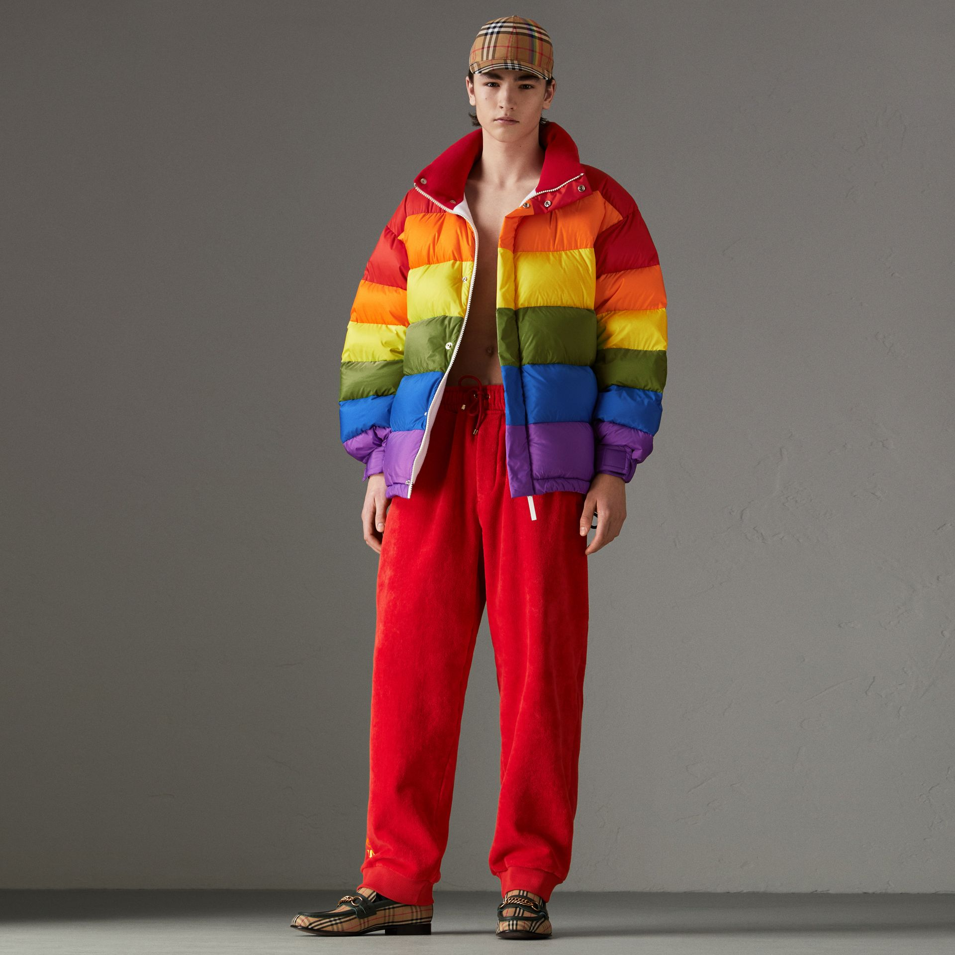 Rainbow Down-filled Puffer Jacket | Burberry - gallery image 0