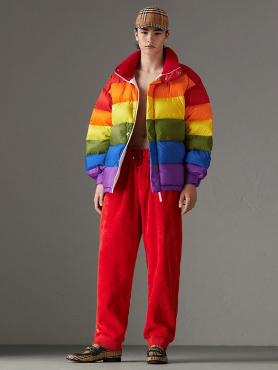 Rainbow Down-filled Puffer Jacket