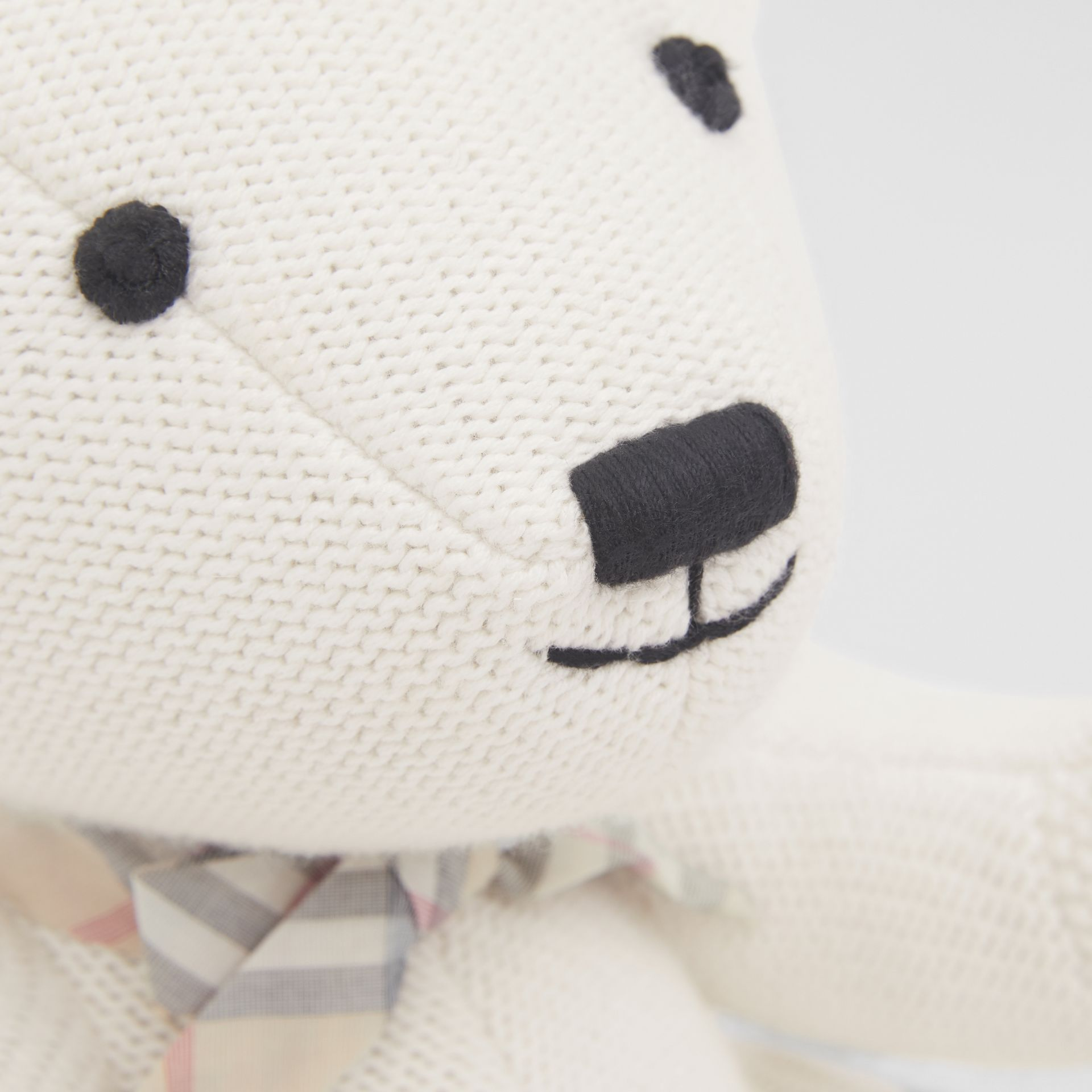 Cotton Cashmere Thomas Bear in Ivory - Children | Burberry United Kingdom - gallery image 5