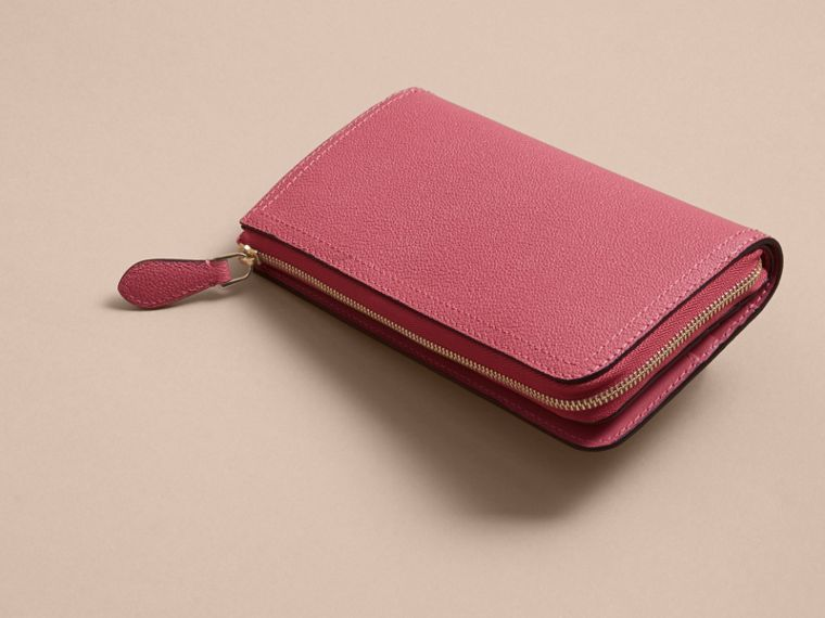 Grainy Leather Ziparound Wallet Pink Azalea - cell image 4