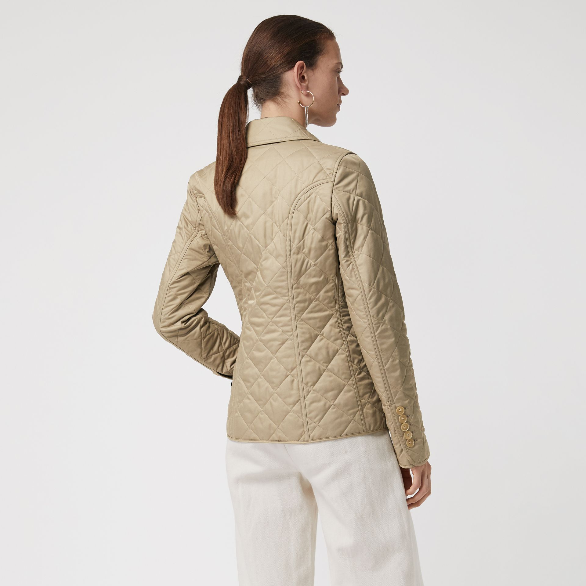 Diamond Quilted Jacket in Canvas - Women | Burberry Hong Kong S.A.R - gallery image 2