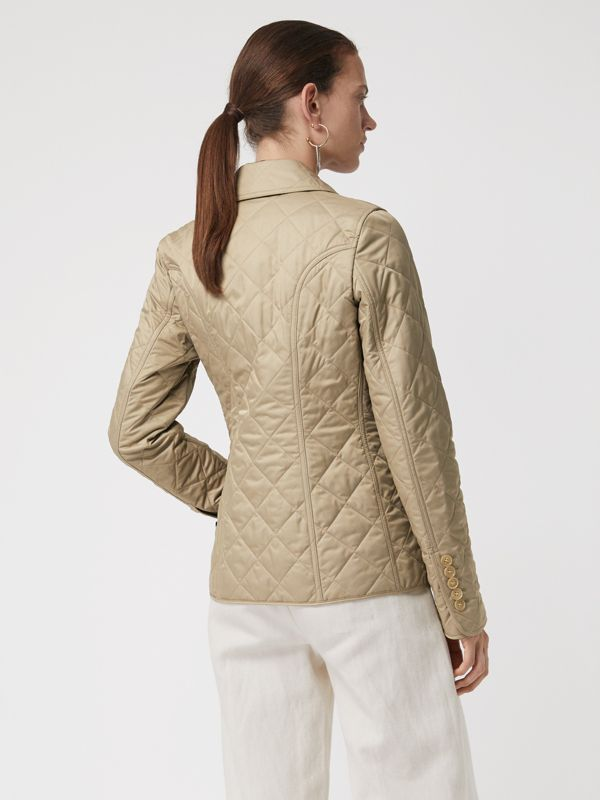 Diamond Quilted Jacket in Canvas - Women | Burberry United States - cell image 2