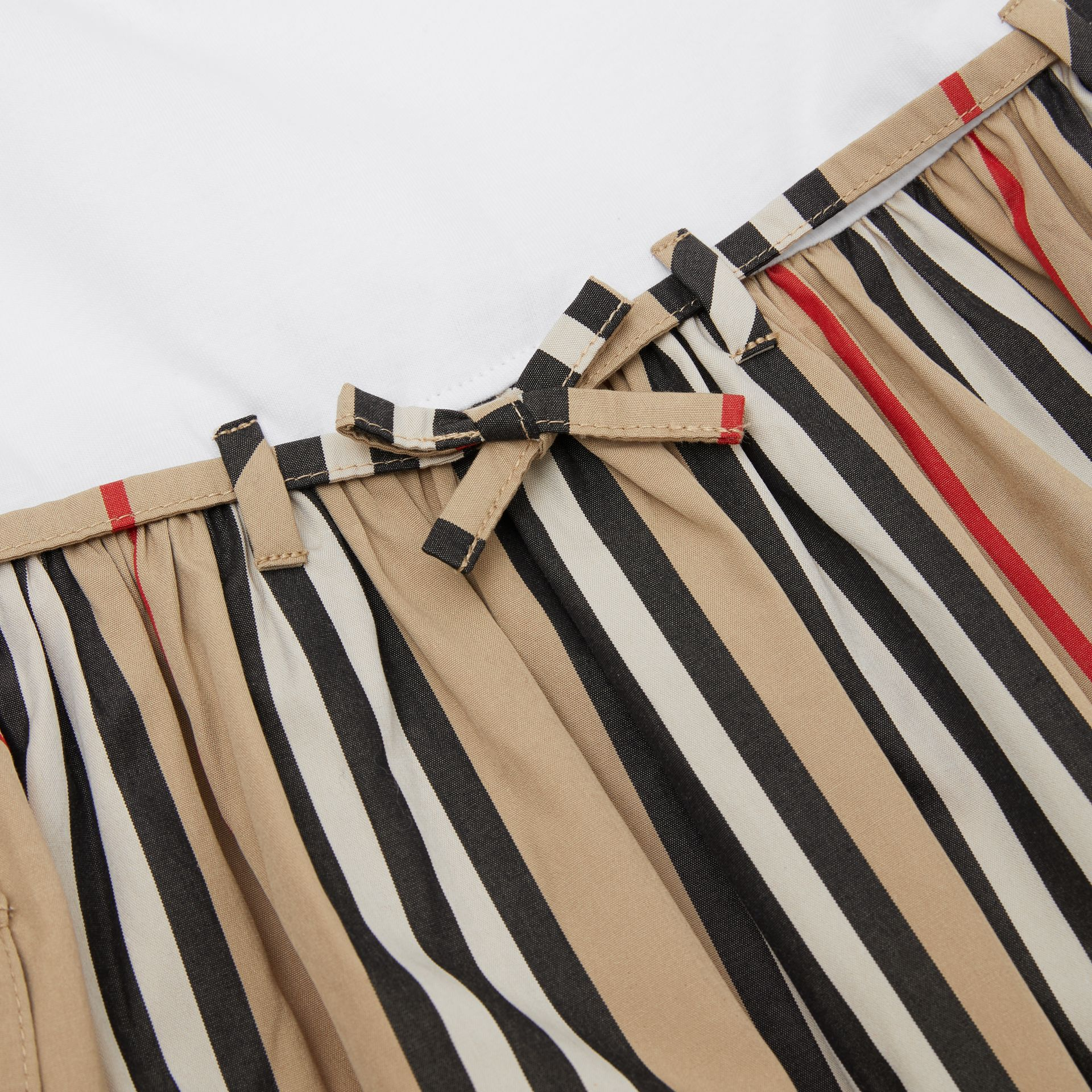 Icon Stripe Cotton Dress in Archive Beige | Burberry - gallery image 1