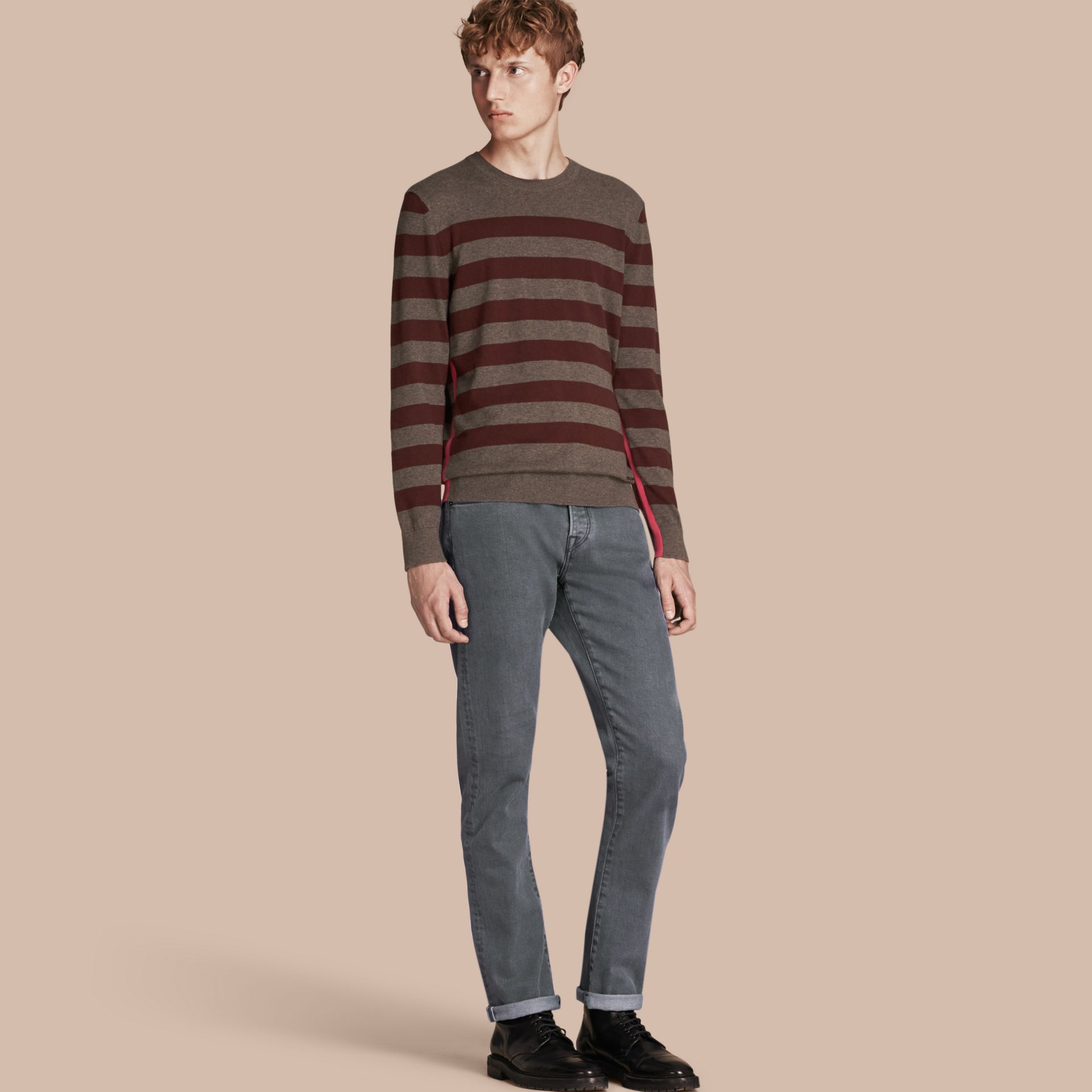 Jean de coupe droite en denim selvedge japonais - Homme | Burberry - photo de la galerie 1