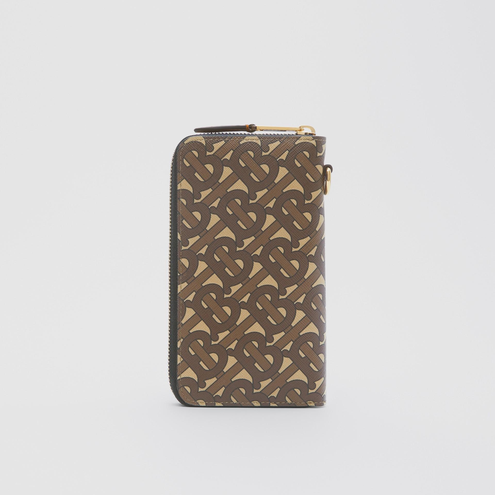 모노그램 프린트 E-캔버스 휴대폰 지갑 (브라이들 브라운) - 남성 | Burberry - 갤러리 이미지 4