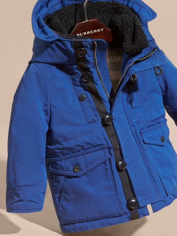 Bright cobalt Down-filled Jacket with Faux-fur-lined Hood Bright Cobalt - cell image 2