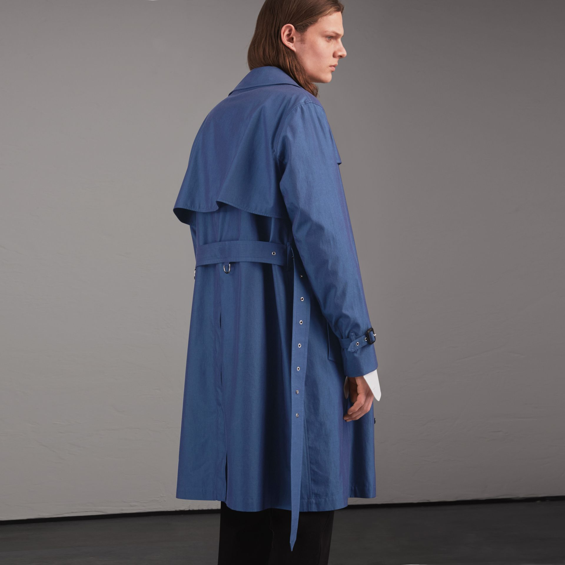 Tropical Gabardine Cotton Trench Coat - gallery image 3