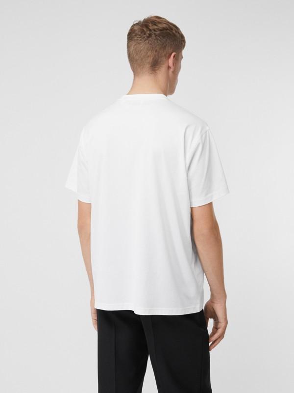 Logo Appliqué Cotton T-shirt in White - Men | Burberry Hong Kong S.A.R - cell image 2