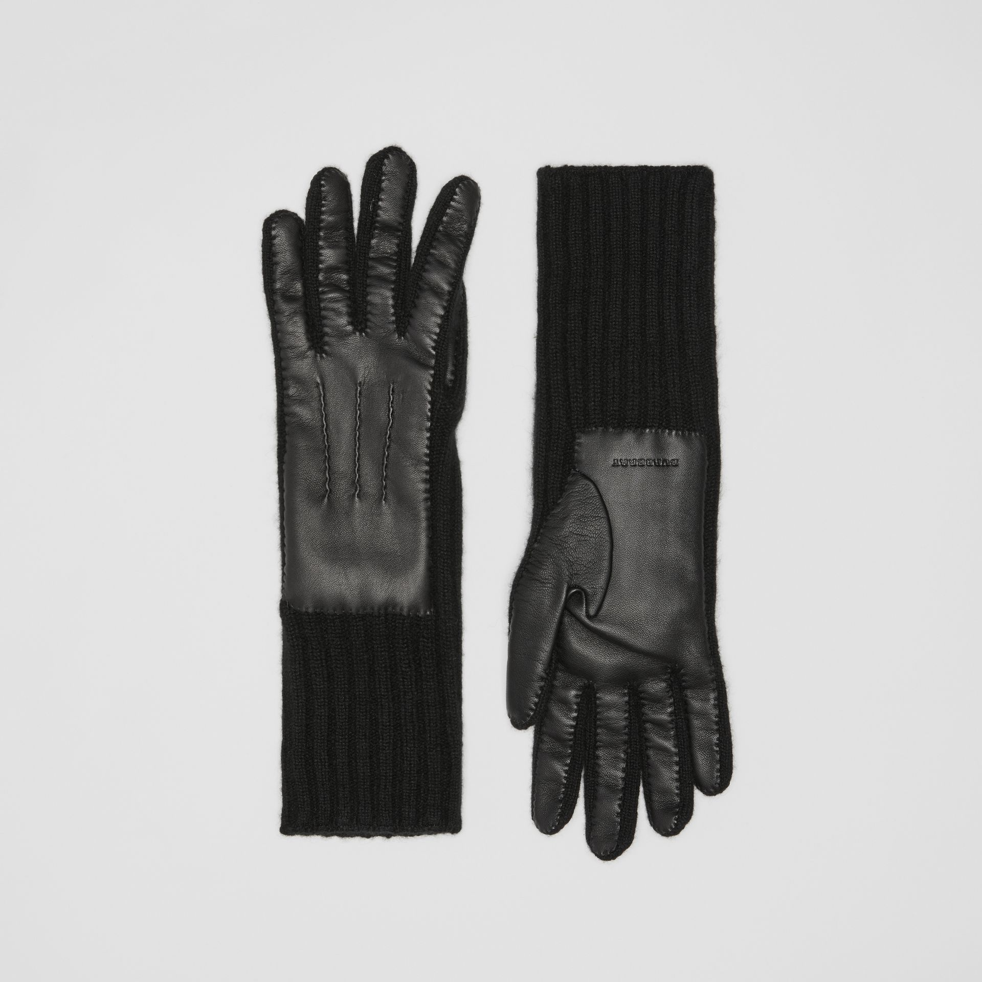 Cashmere and Lambskin Gloves in Black - Women | Burberry - gallery image 0