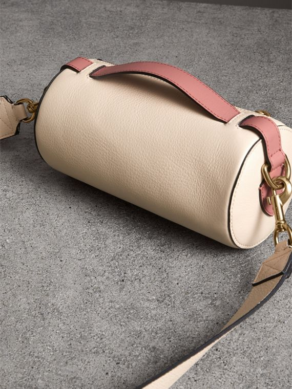 The Leather Barrel Bag in Limestone/dusty Rose - Women | Burberry - cell image 2