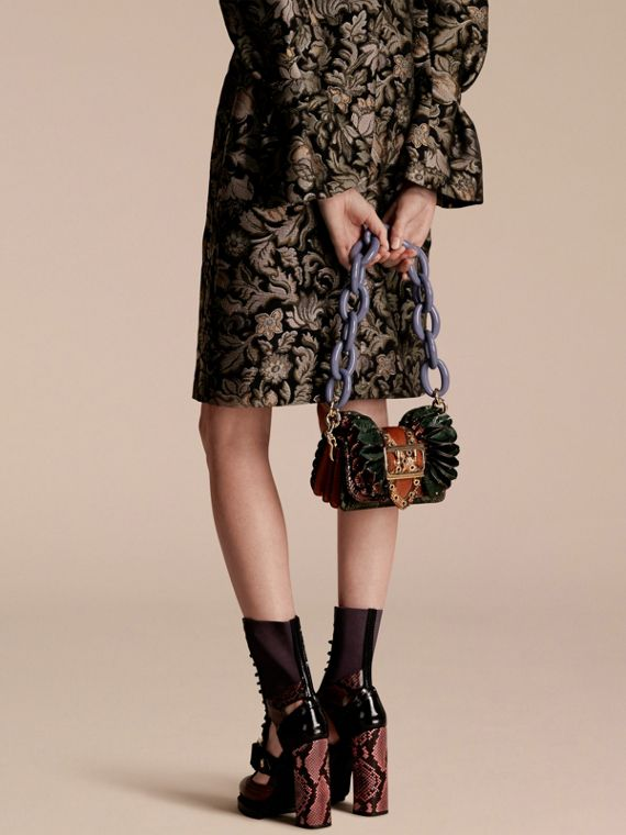 The Ruffle Buckle Bag in Snakeskin, Ostrich and Calfskin - cell image 2