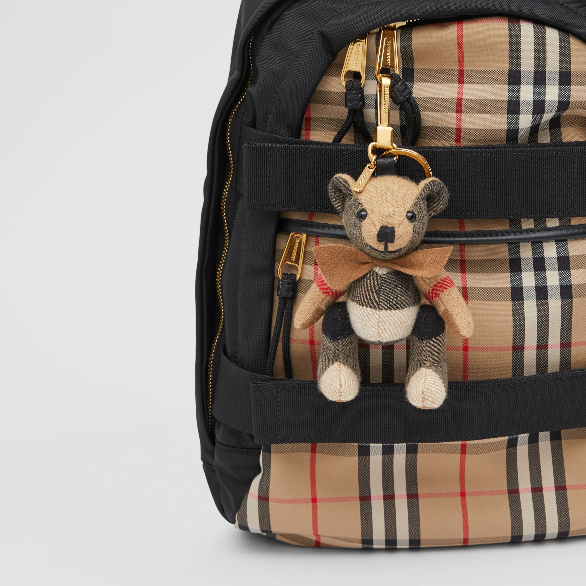 Thomas Bear Charm with Bow Tie in Archive Beige - Women   Burberry Australia - gallery image 4