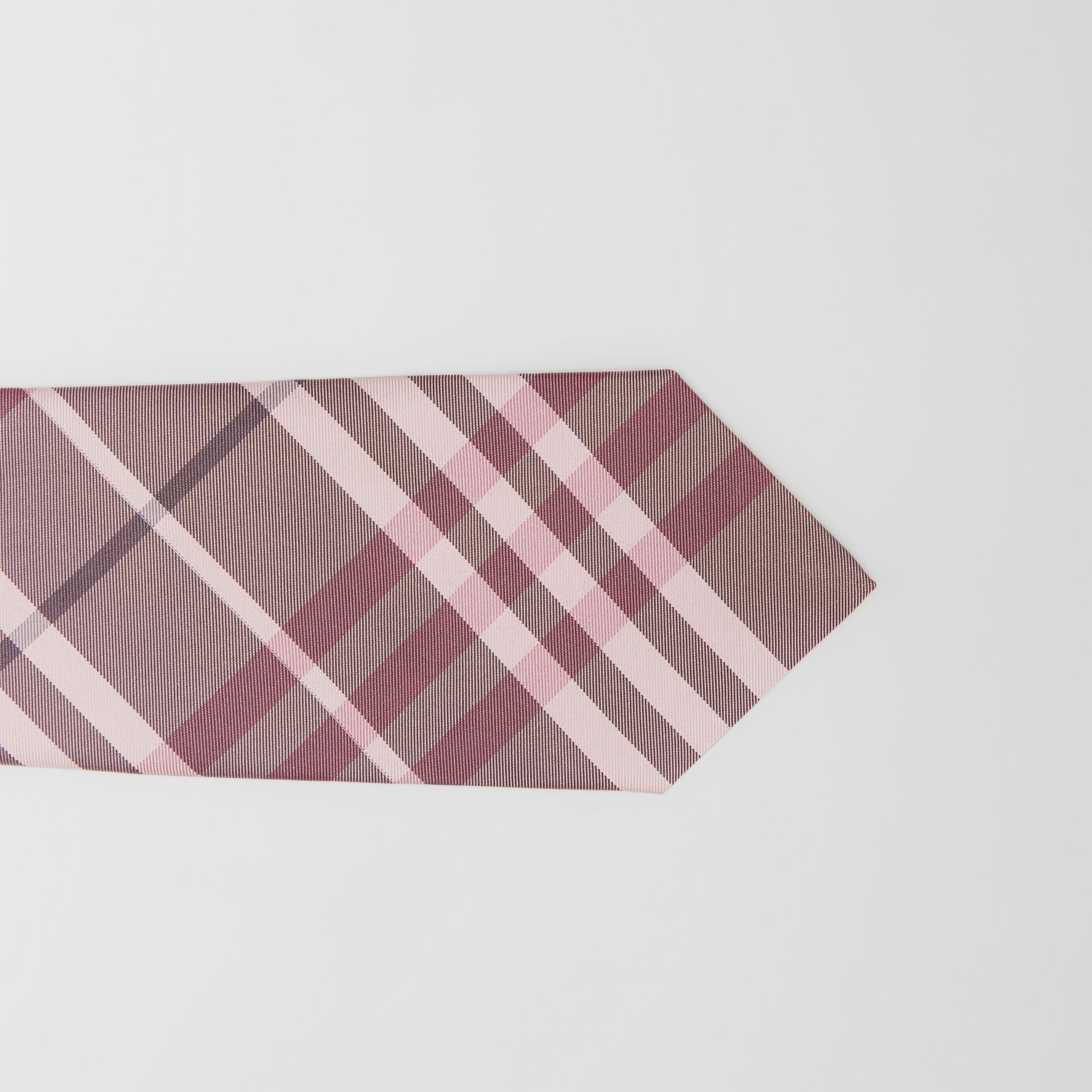 Classic Cut Vintage Check Silk Tie in Chalk Pink - Men | Burberry - gallery image 1