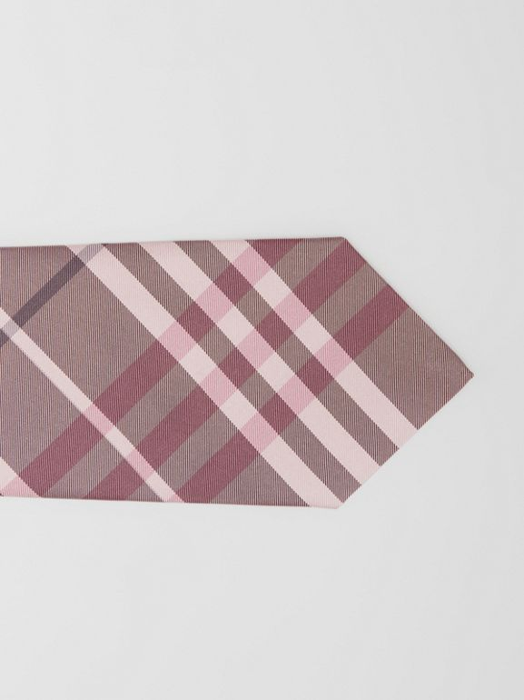 Classic Cut Vintage Check Silk Tie in Chalk Pink - Men | Burberry - cell image 1
