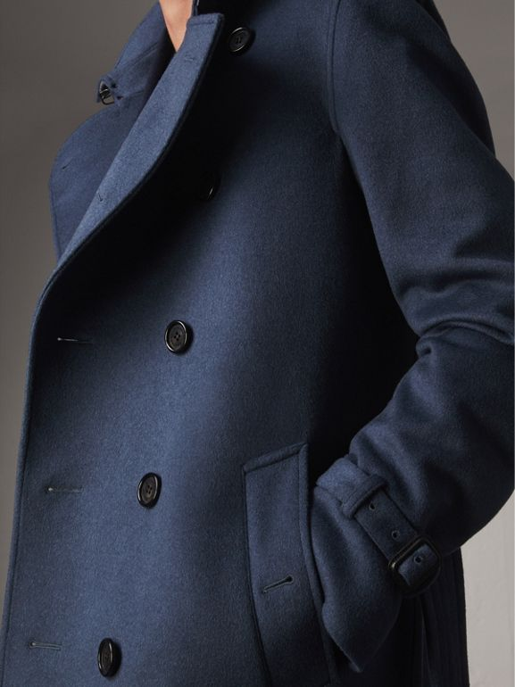 Wool Cashmere Trench Coat in Dark Canvas Blue - Men | Burberry - cell image 1