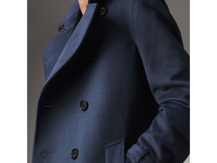 Wool Cashmere Trench Coat in Dark Canvas Blue - Men | Burberry United Kingdom - cell image 1