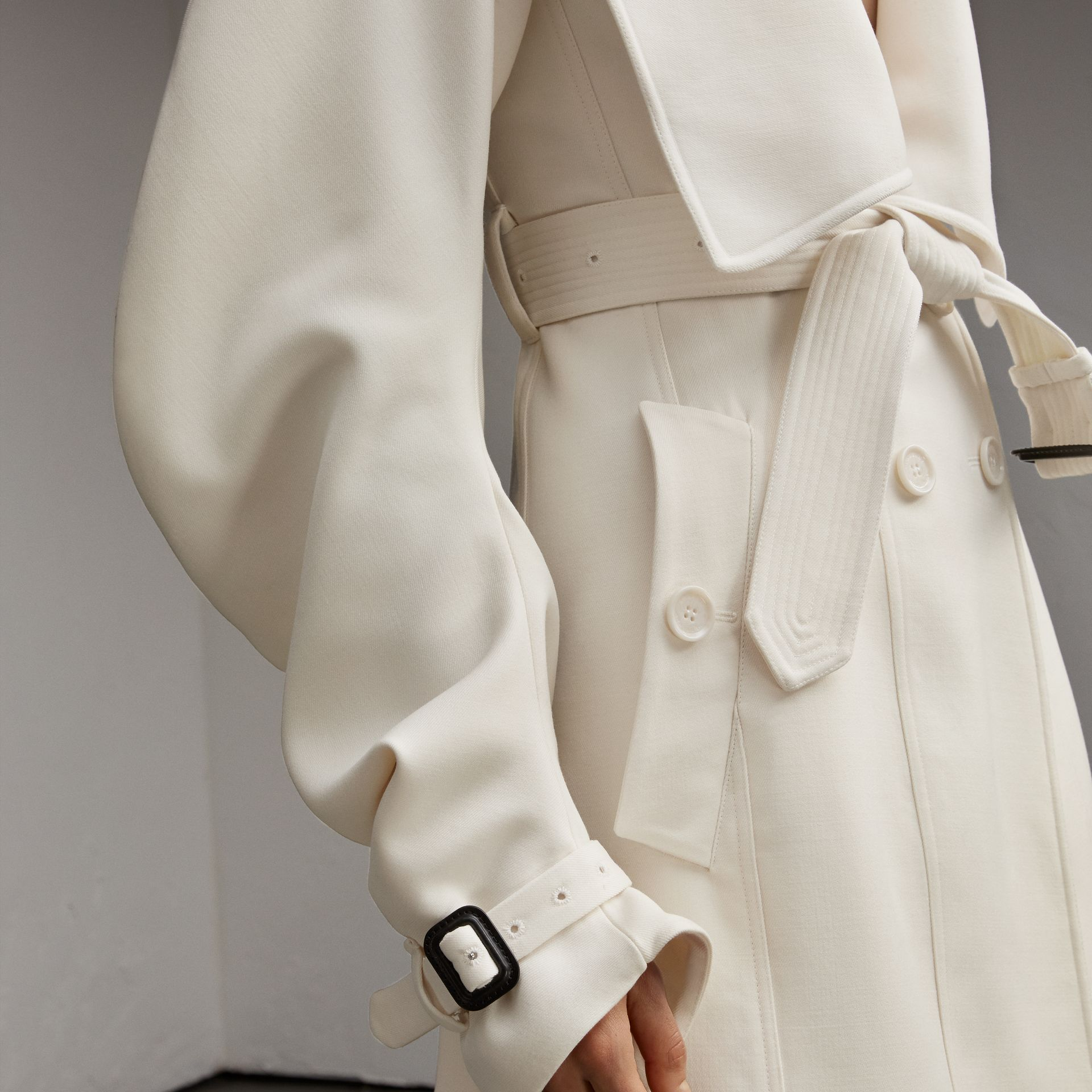 Lightweight Double-faced Wool Twill Asymmetric Coat - Women | Burberry Australia - gallery image 5