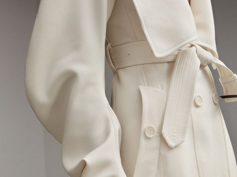 Lightweight Double-faced Wool Twill Asymmetric Coat - Women | Burberry Australia - cell image 4