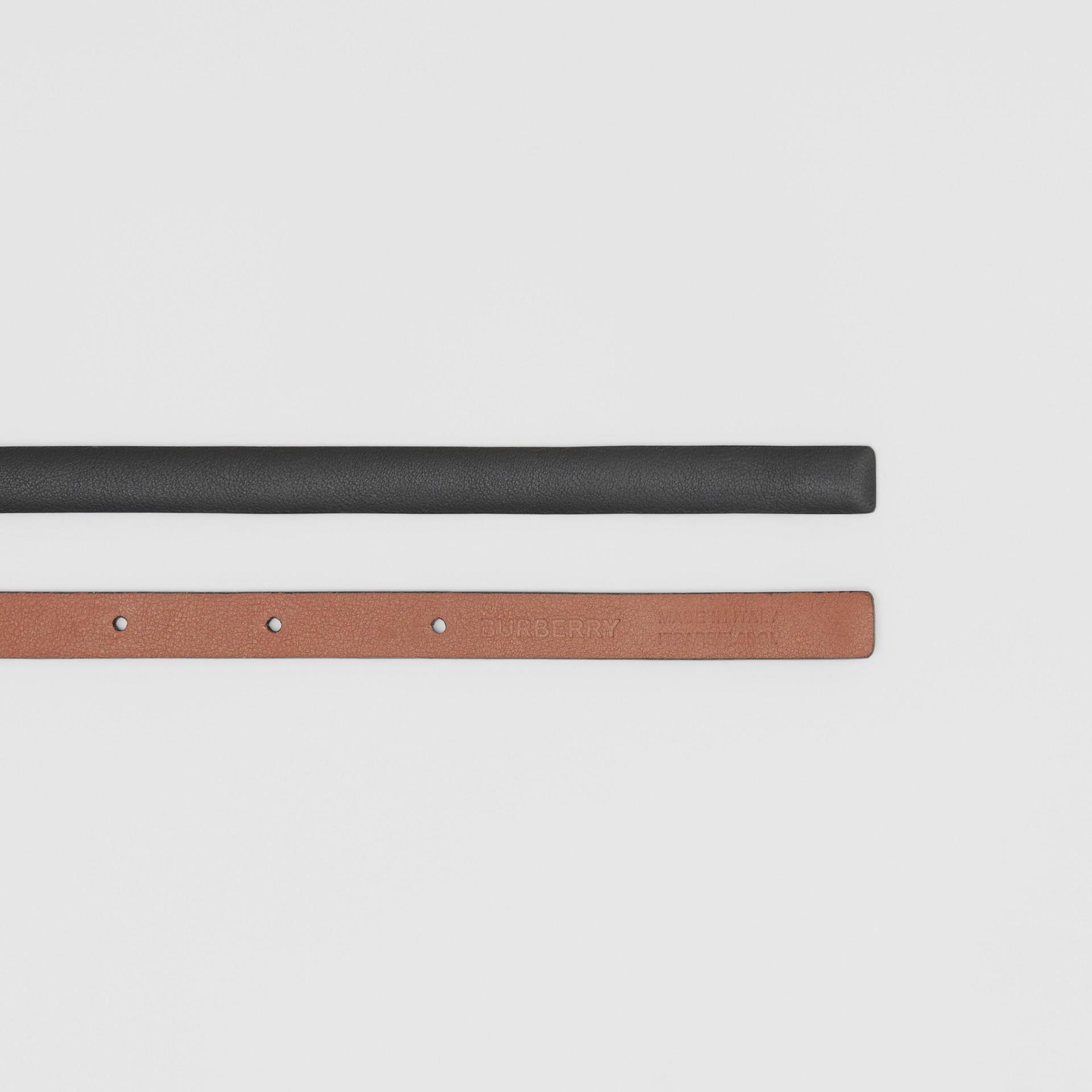 Reversible Monogram Motif Leather Wrap Belt in Black/malt Brown - Women | Burberry - gallery image 5