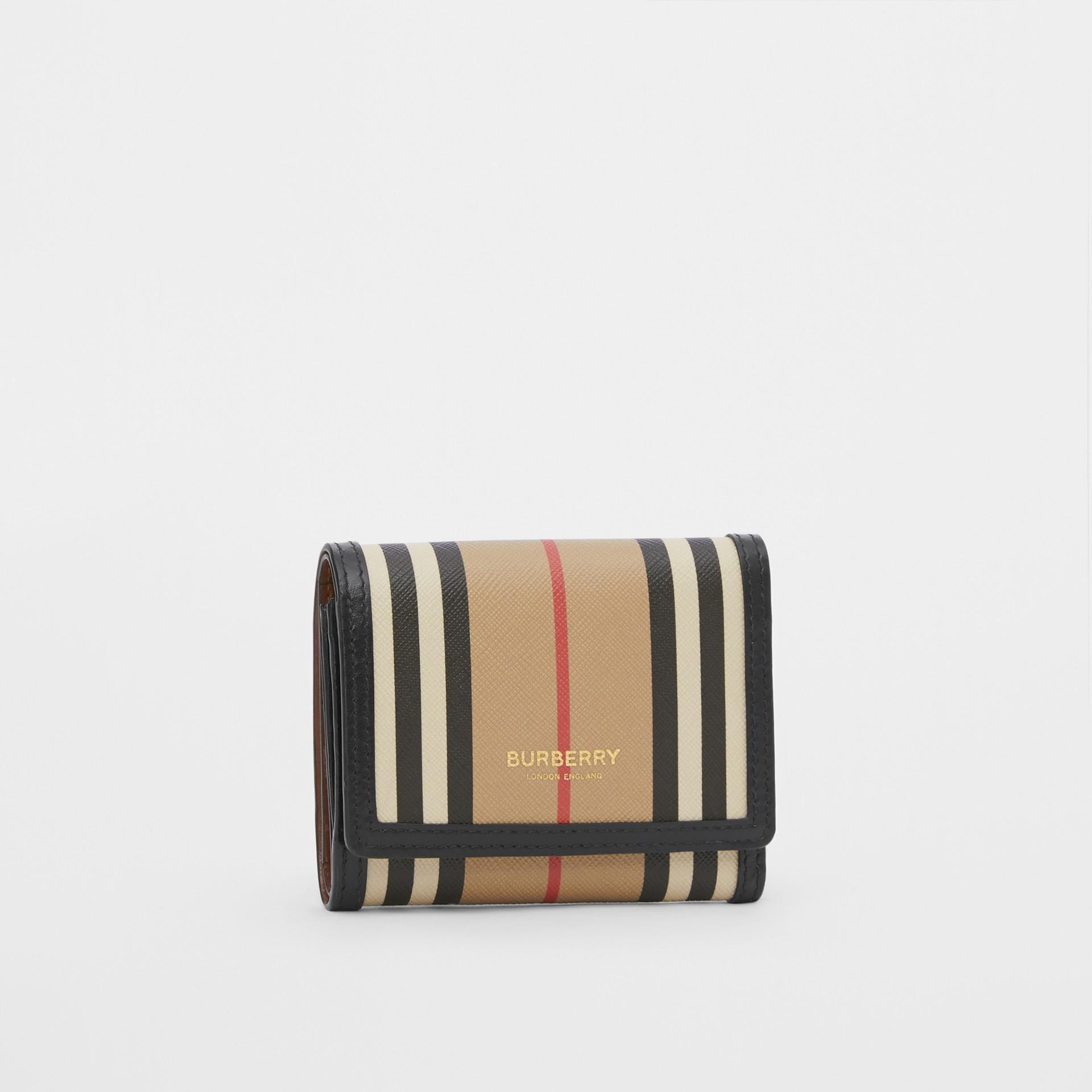 Small Icon Stripe E-canvas Folding Wallet in Archive Beige - Women | Burberry United Kingdom - gallery image 3