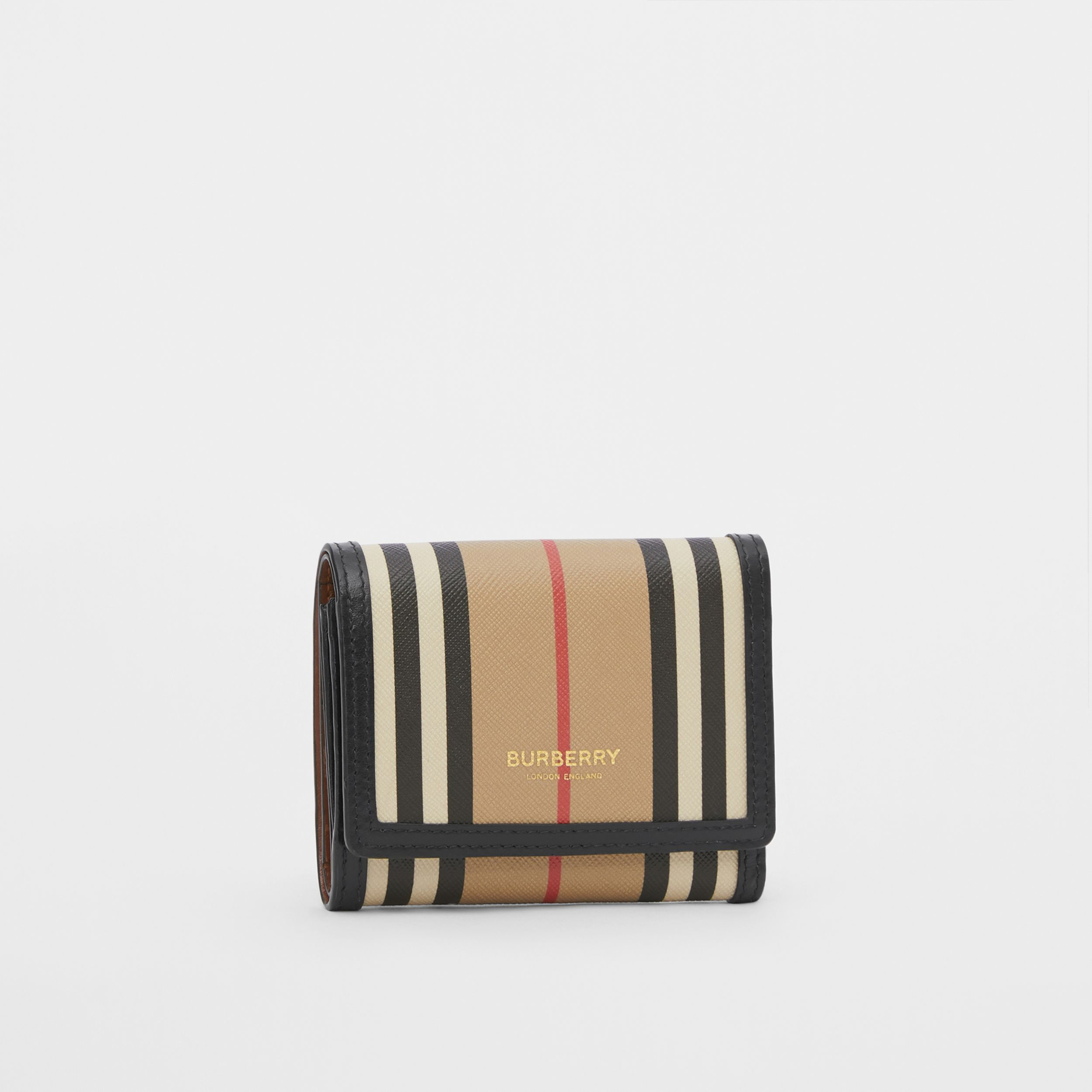 Small Icon Stripe E-canvas Folding Wallet in Archive Beige | Burberry Singapore - 4