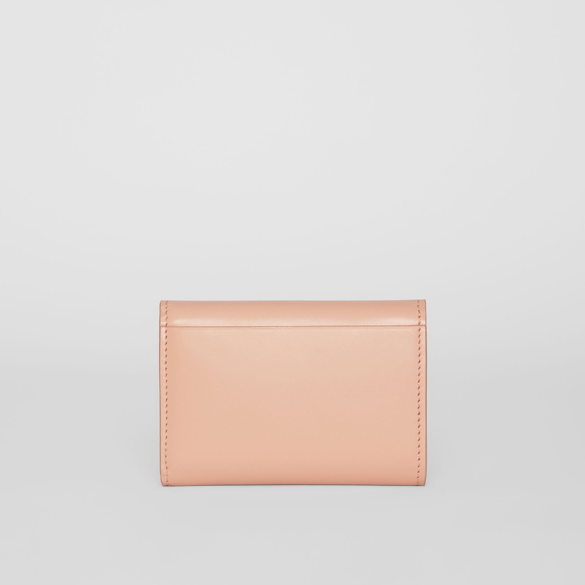 Horseferry Print Leather Folding Wallet in Blush Pink - Women | Burberry - gallery image 5