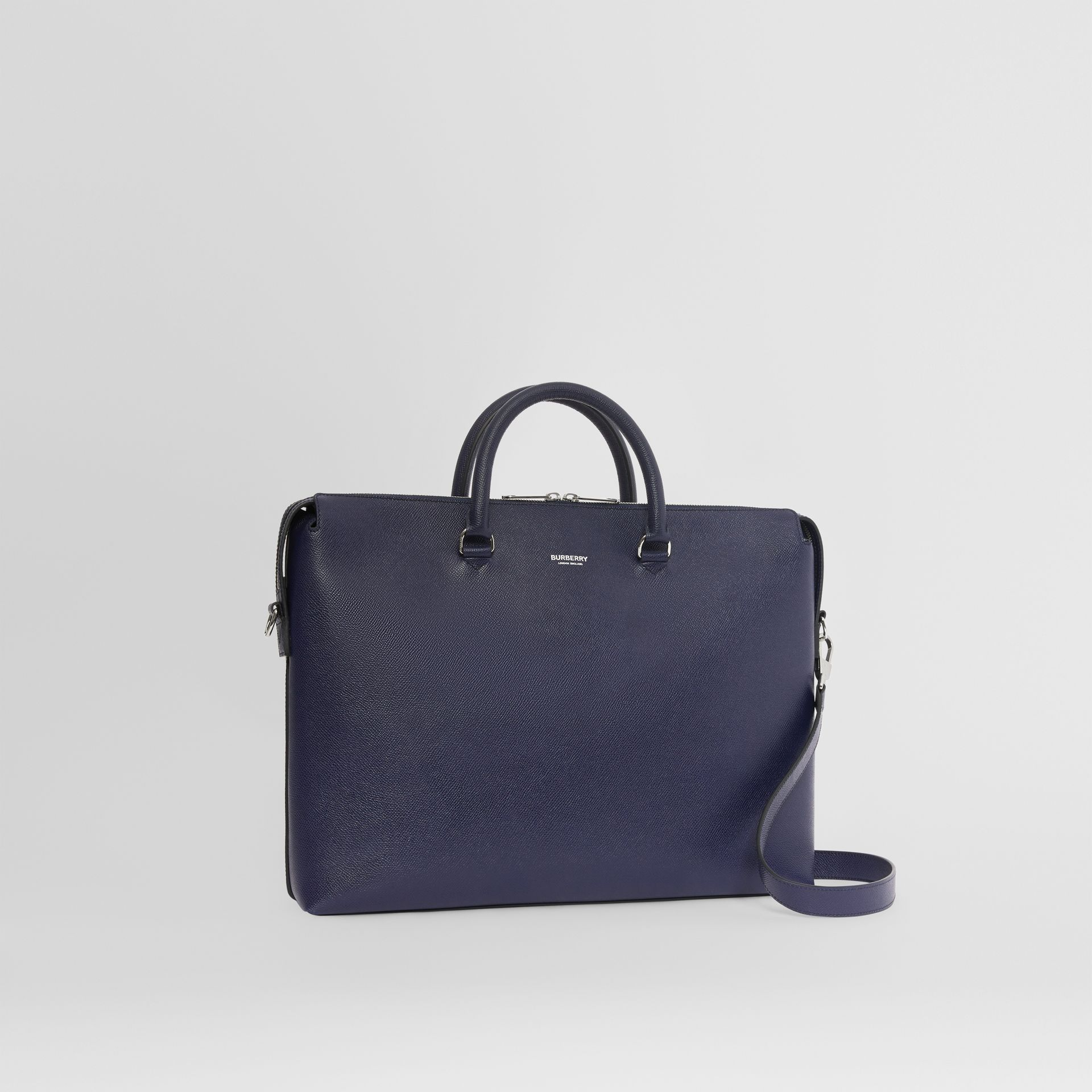 Triple Stud Grainy Leather Briefcase in Regency Blue - Men | Burberry - gallery image 6