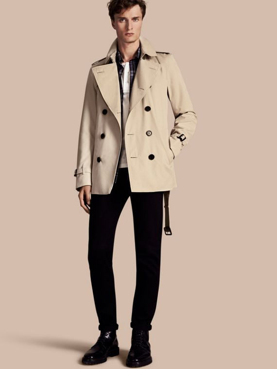 The Kensington - Trench coat Heritage curto Areia