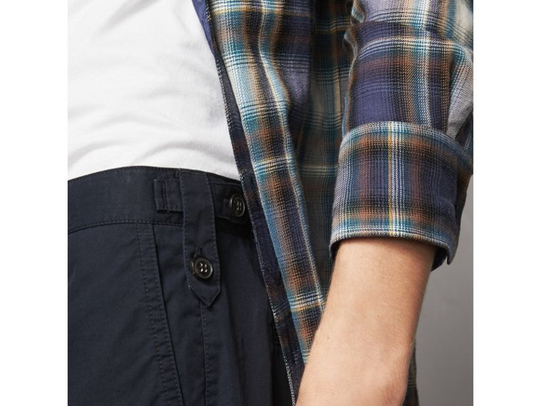 Straight Fit Cotton Chinos in Ink - Men | Burberry United Kingdom - cell image 1