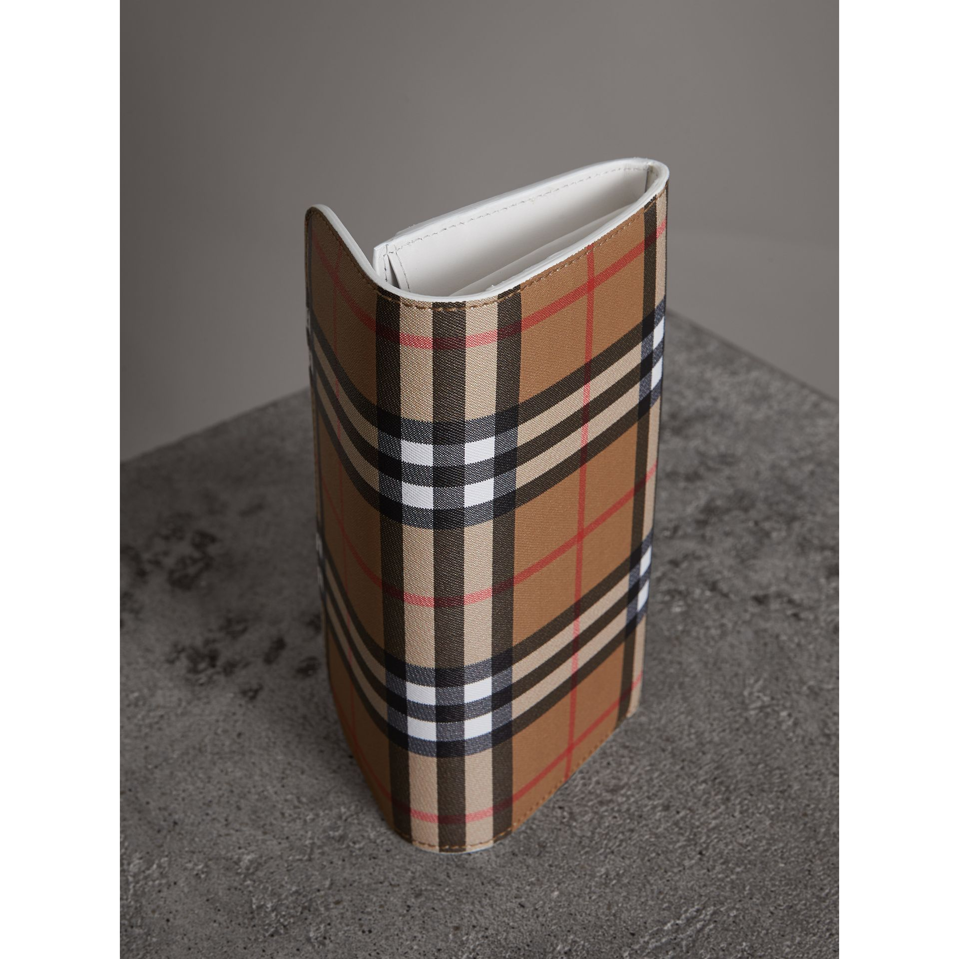 Vintage Check and Leather Continental Wallet in Chalk White - Women | Burberry United Kingdom - gallery image 2