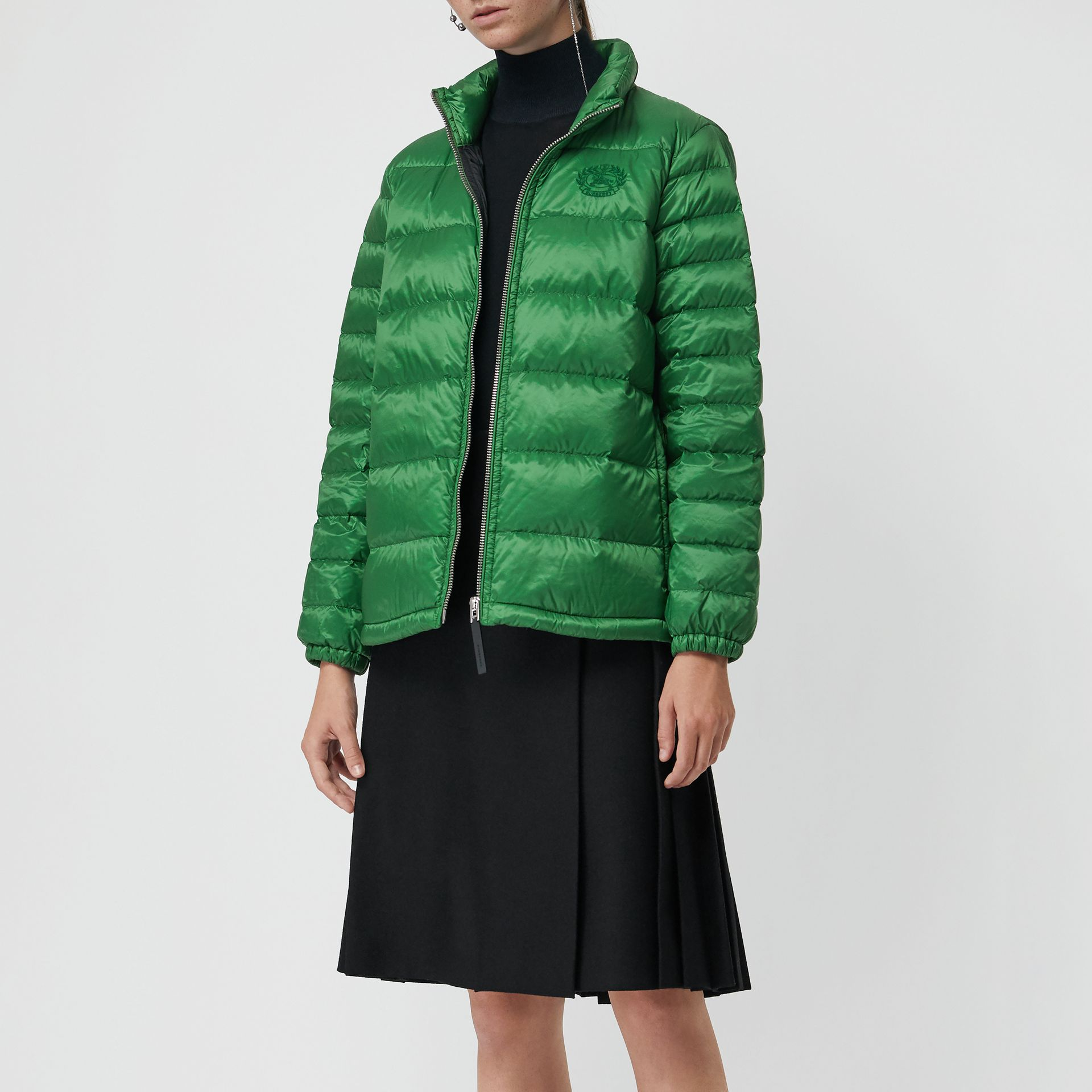 Down-filled Puffer Jacket in Emerald Green - Women | Burberry - gallery image 4