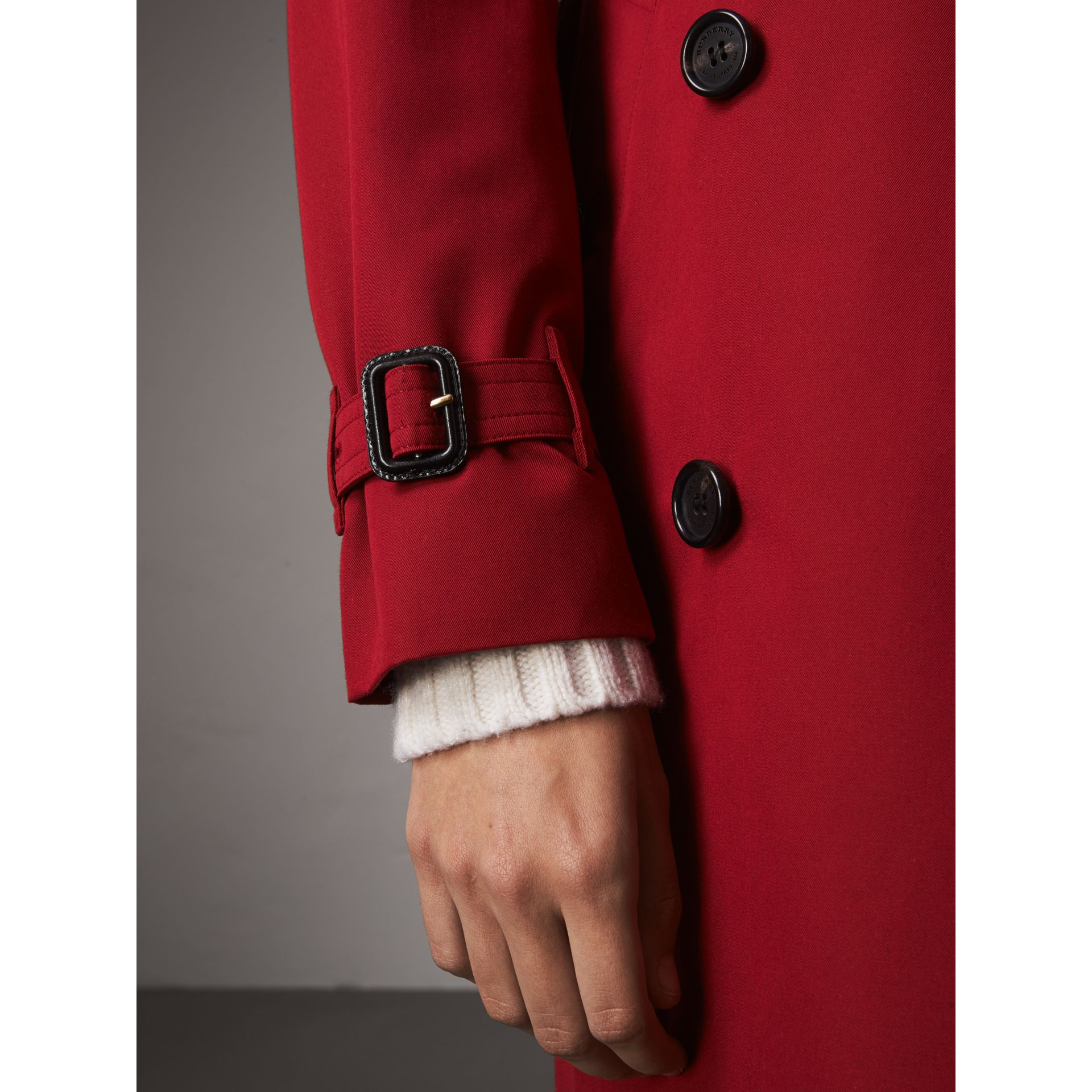 The Kensington – Mid-Length Heritage Trench Coat in Parade Red - Women | Burberry Singapore - gallery image 6
