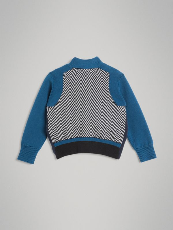 Baumwollcardigan im Colour-Blocking-Design (Marineblau) | Burberry - cell image 3
