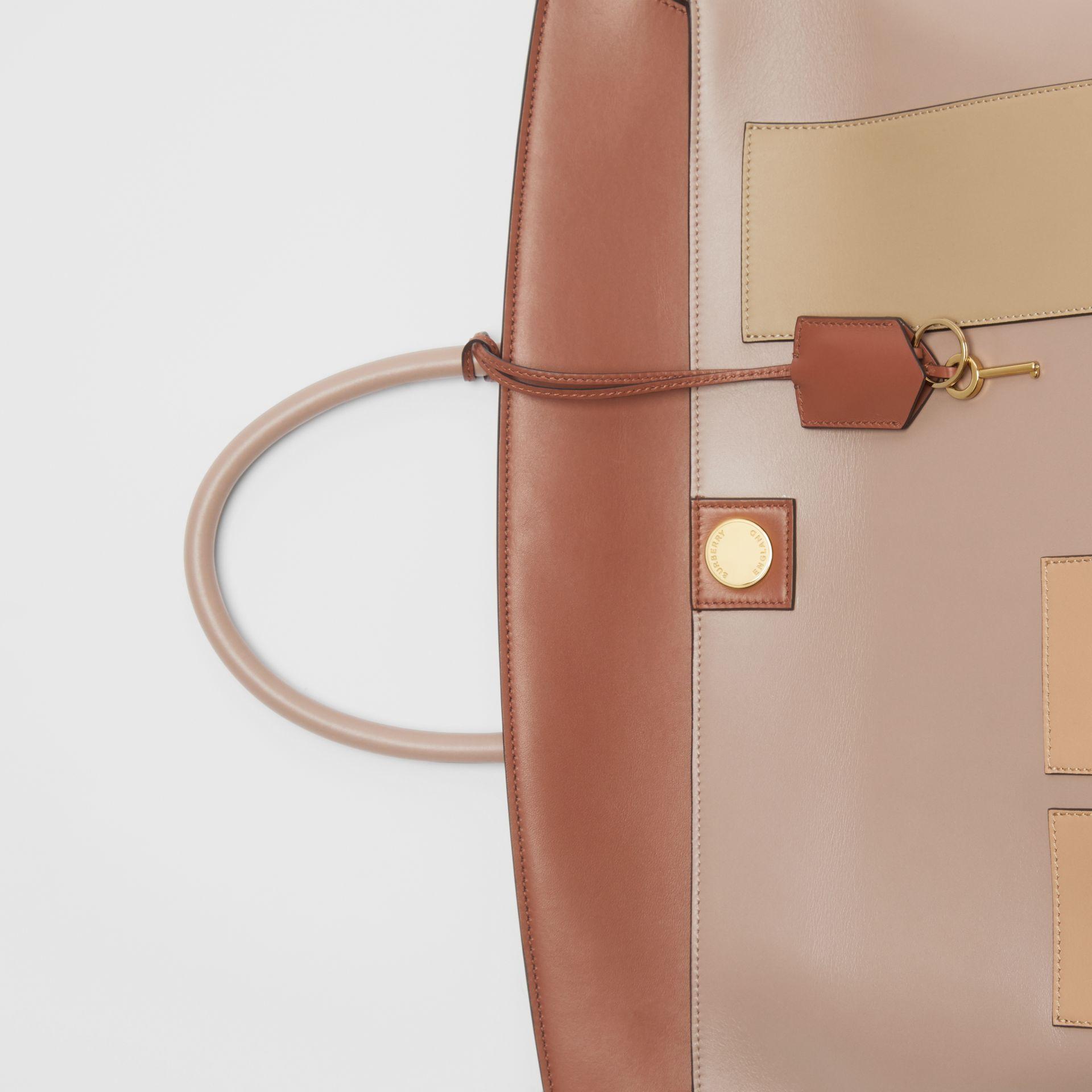 Leather Society Top Handle Bag in Pale Mink - Women | Burberry - gallery image 1