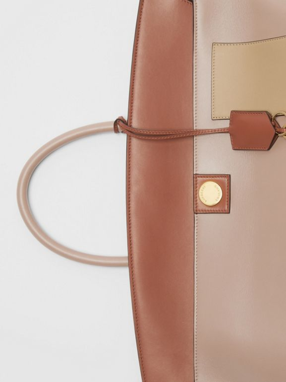 Leather Society Top Handle Bag in Pale Mink - Women | Burberry - cell image 1
