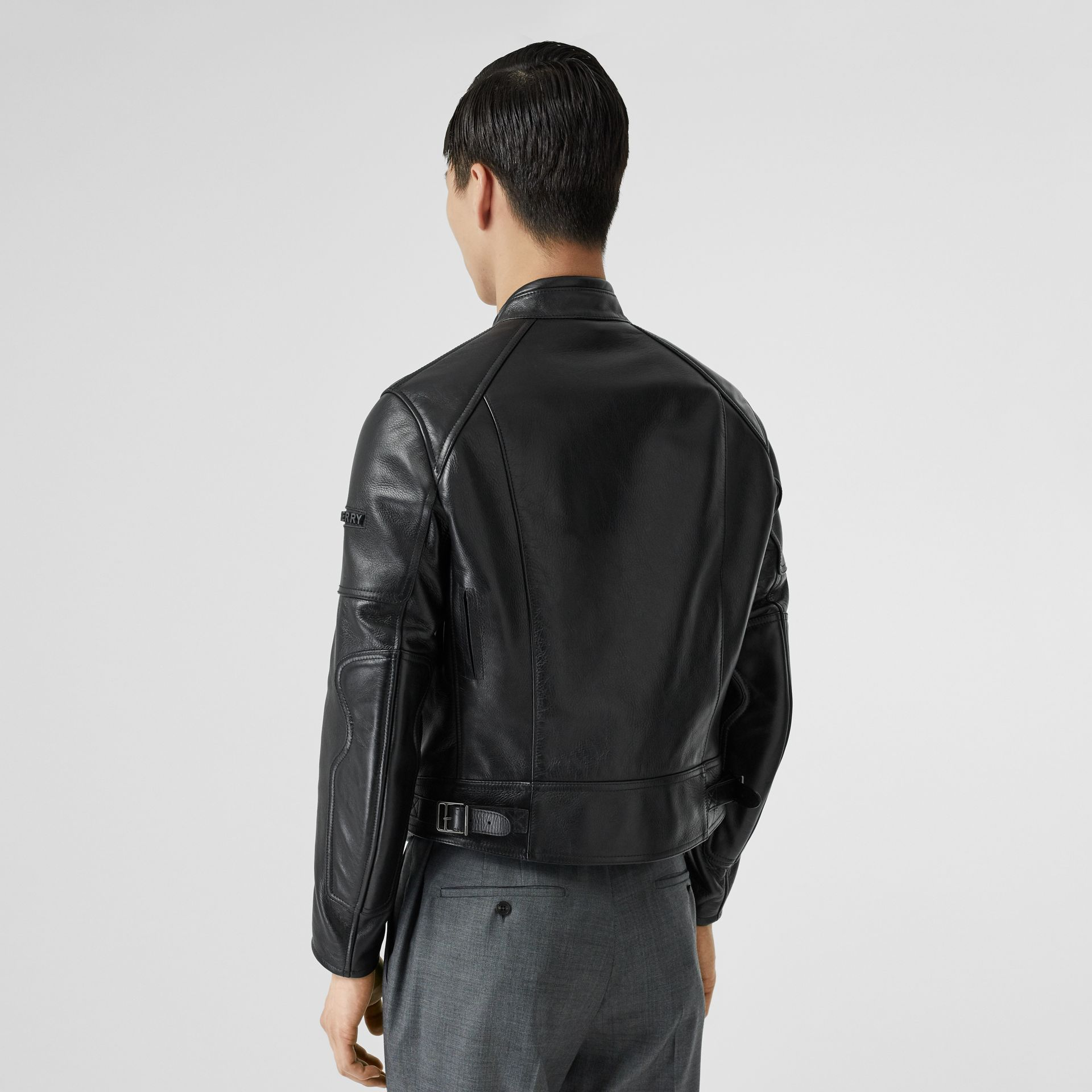 Leather Bomber Jacket in Black - Men | Burberry Singapore - gallery image 2