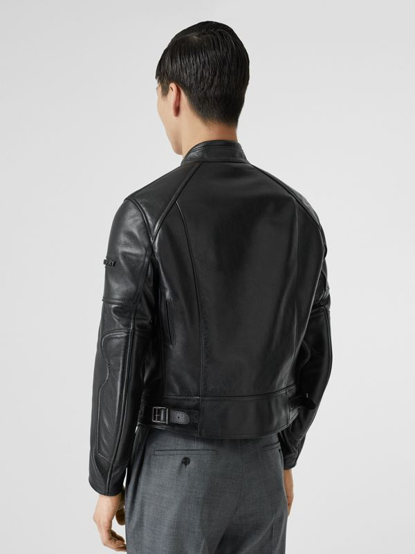 Leather Bomber Jacket in Black - Men | Burberry Singapore - cell image 2
