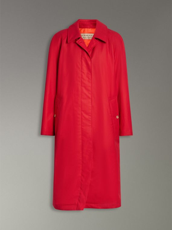 Oversized Cotton Car Coat in Parade Red - Women | Burberry - cell image 3