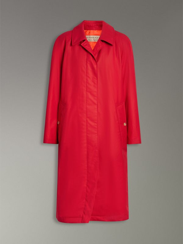 Oversized Cotton Car Coat in Parade Red - Women | Burberry United Kingdom - cell image 3