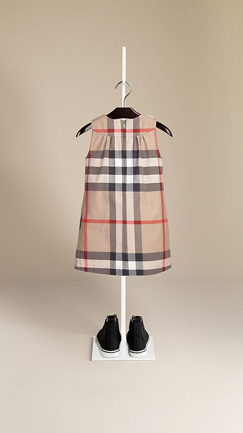 New classic Check Cotton Sleeveless Dress - Image 2