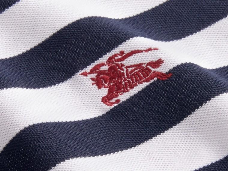 Striped Cotton Polo Shirt White/navy - cell image 1