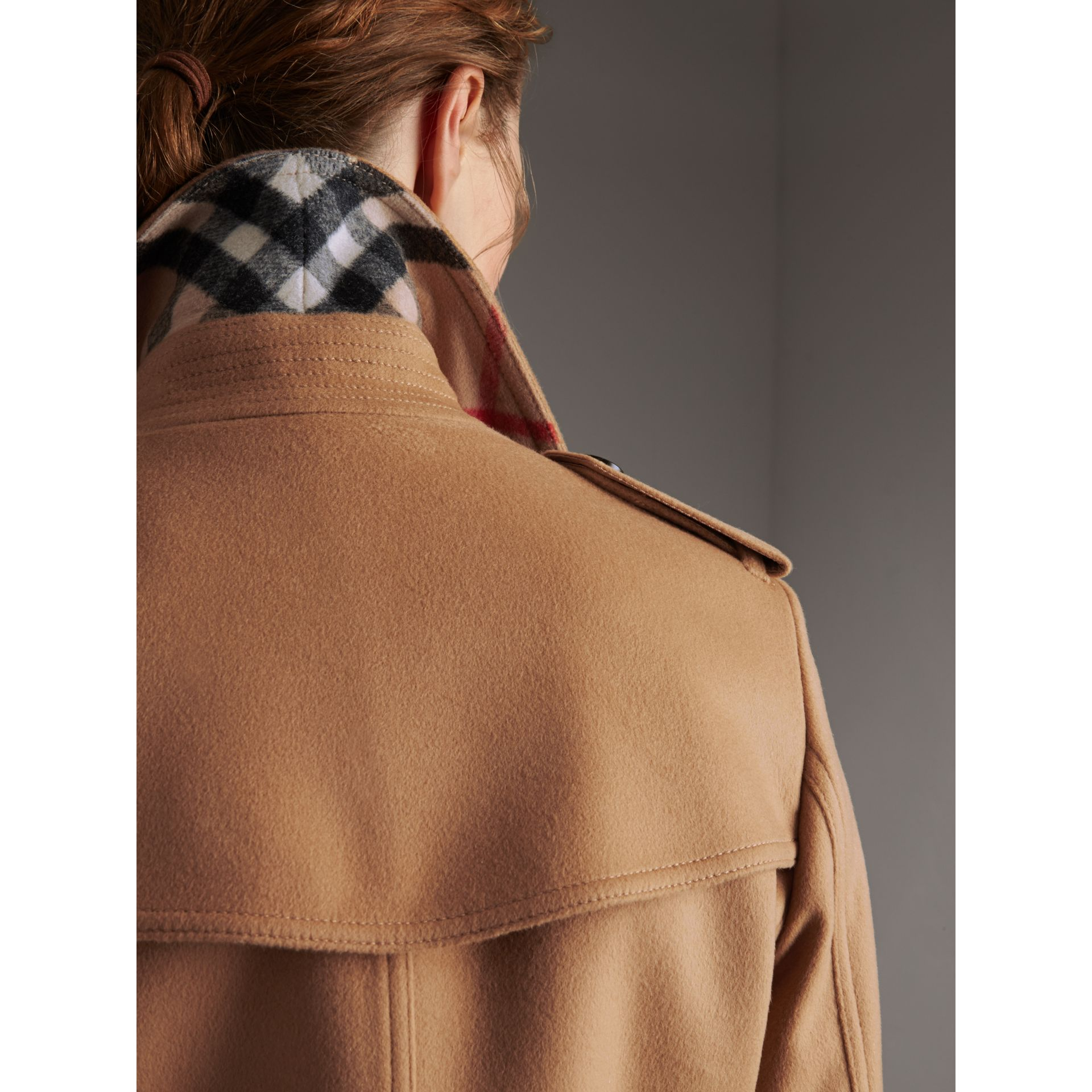 Wool Cashmere Trench Coat in Camel - Women | Burberry - gallery image 2