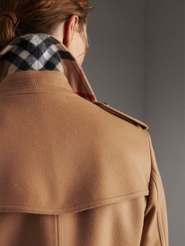 Wool Cashmere Trench Coat in Camel - Women | Burberry - cell image 2