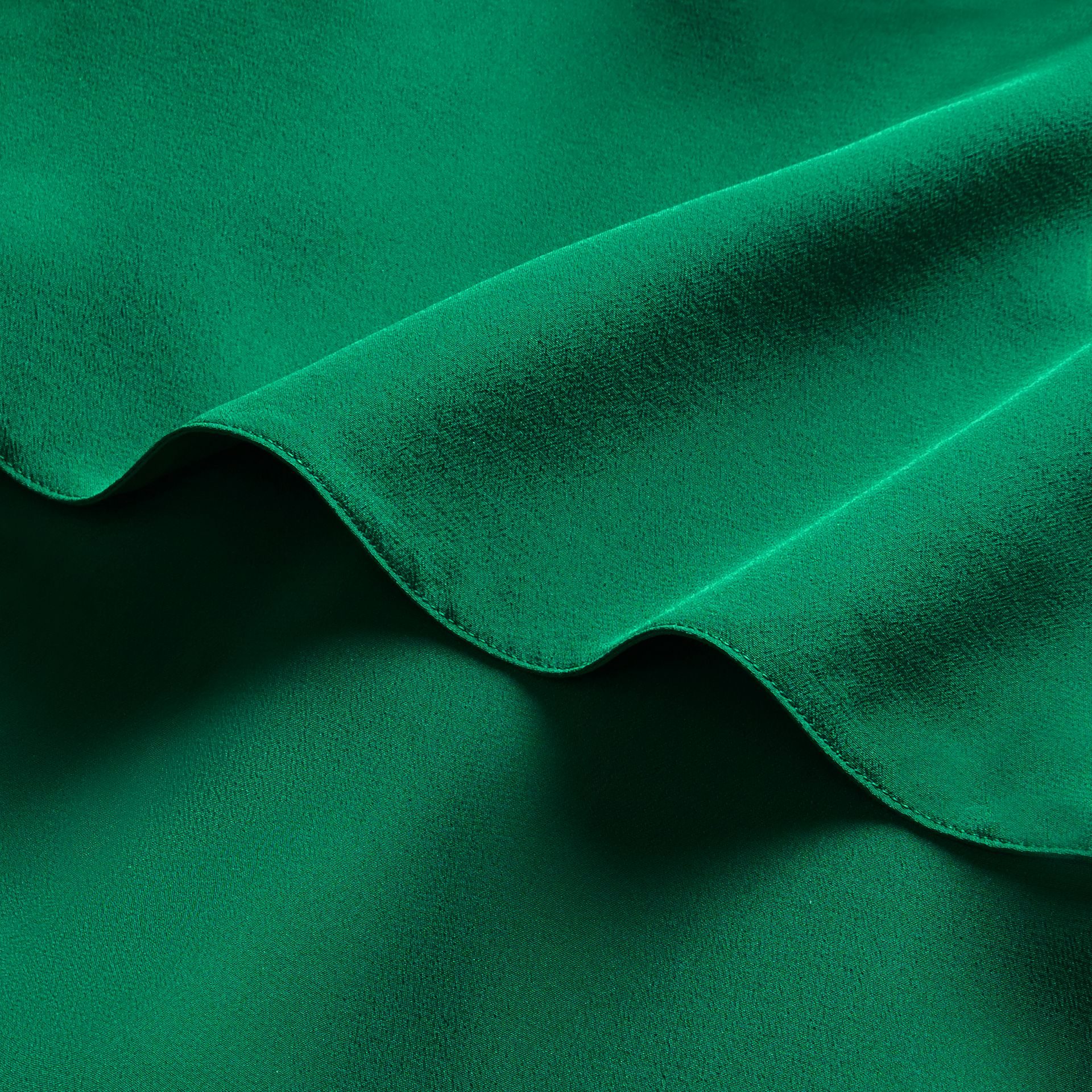 Kelly green Cape Detail Silk Wrap Dress Kelly Green - gallery image 2