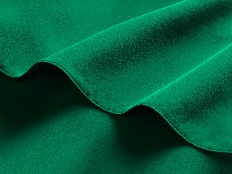 Kelly green Cape Detail Silk Wrap Dress Kelly Green - cell image 1